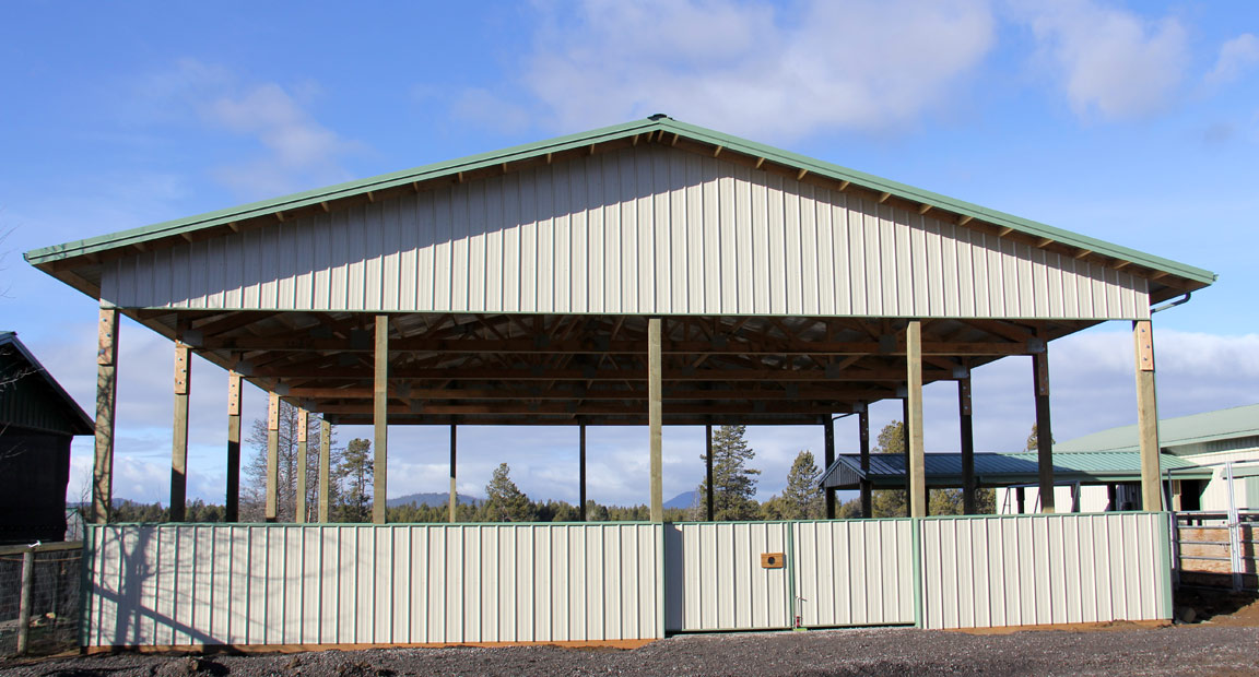 The new Arena at Birch Park Arabians