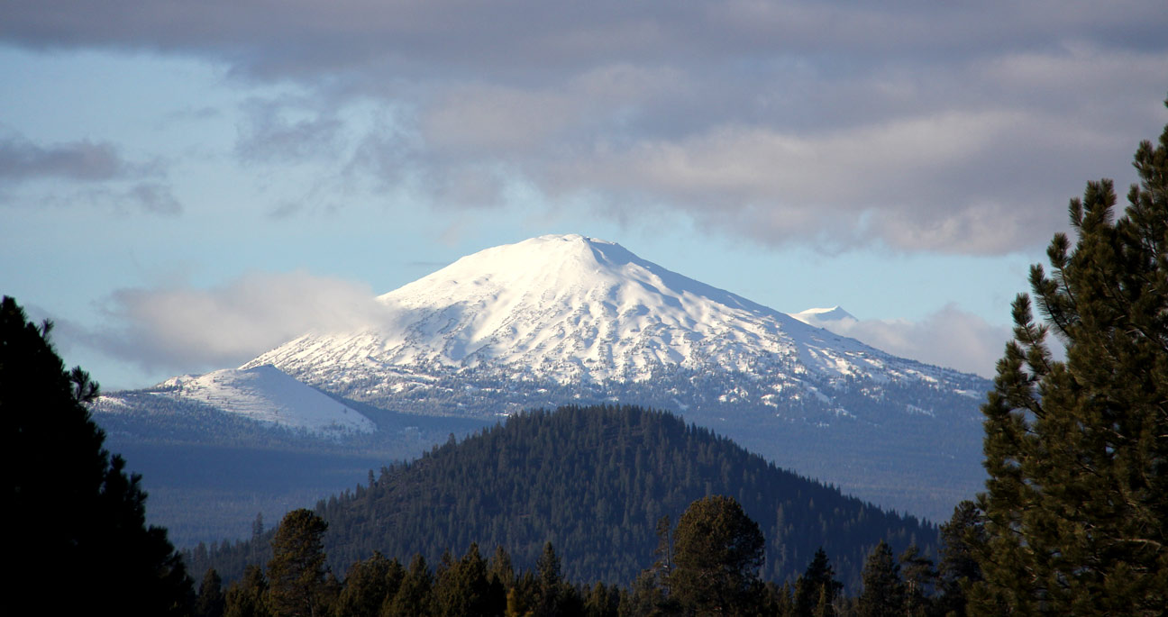 Mt Bachelor, as seen from Birch Park Ranch on Jan 19, 2015.
