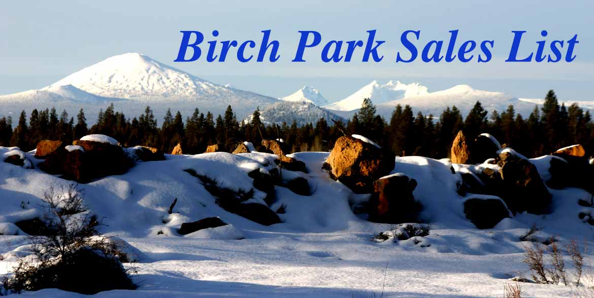 Birch Park Sales List